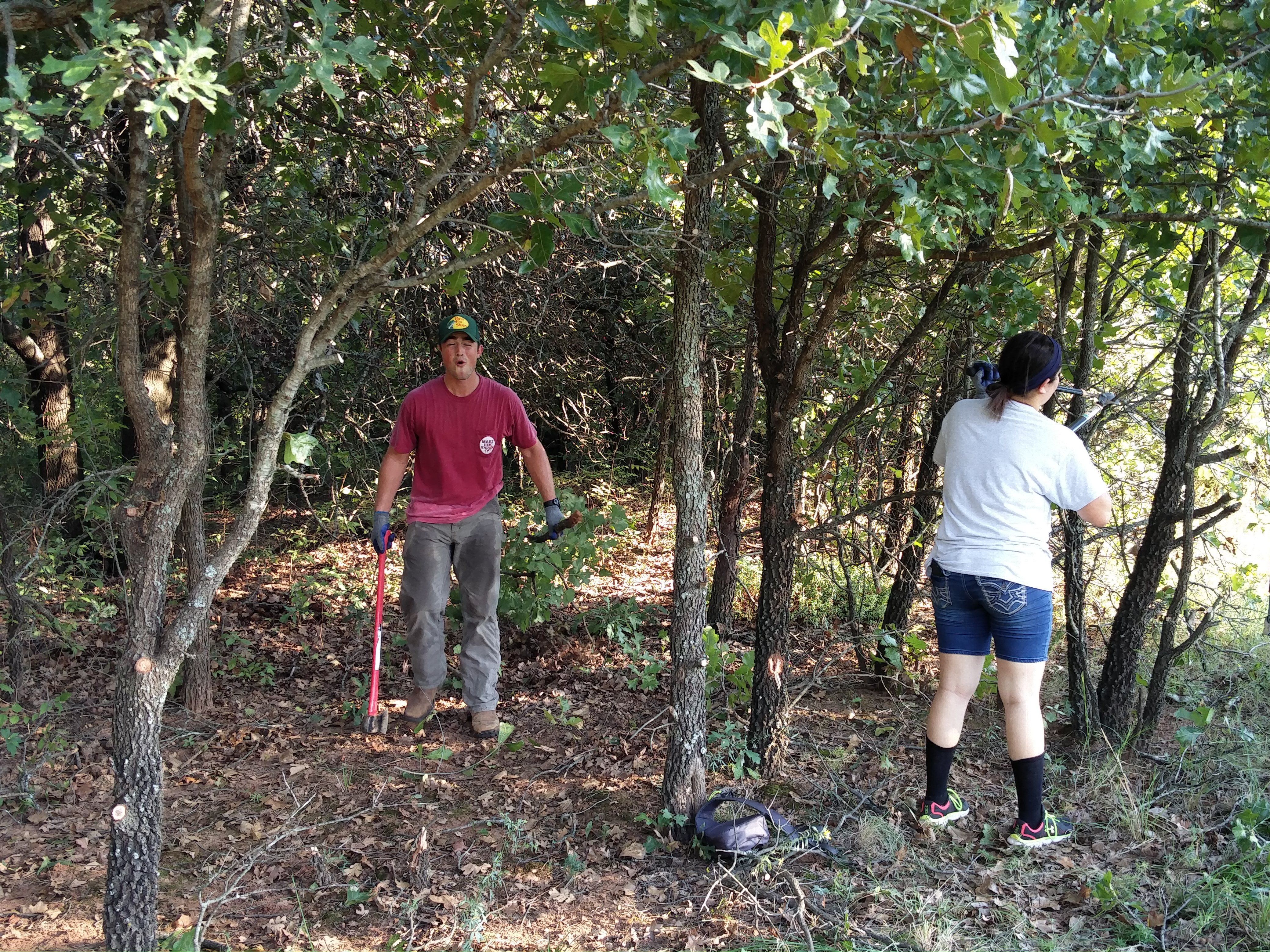 At the ranch, we did a lot of manual labor to make sure that the woods were suitable for the horses and students.