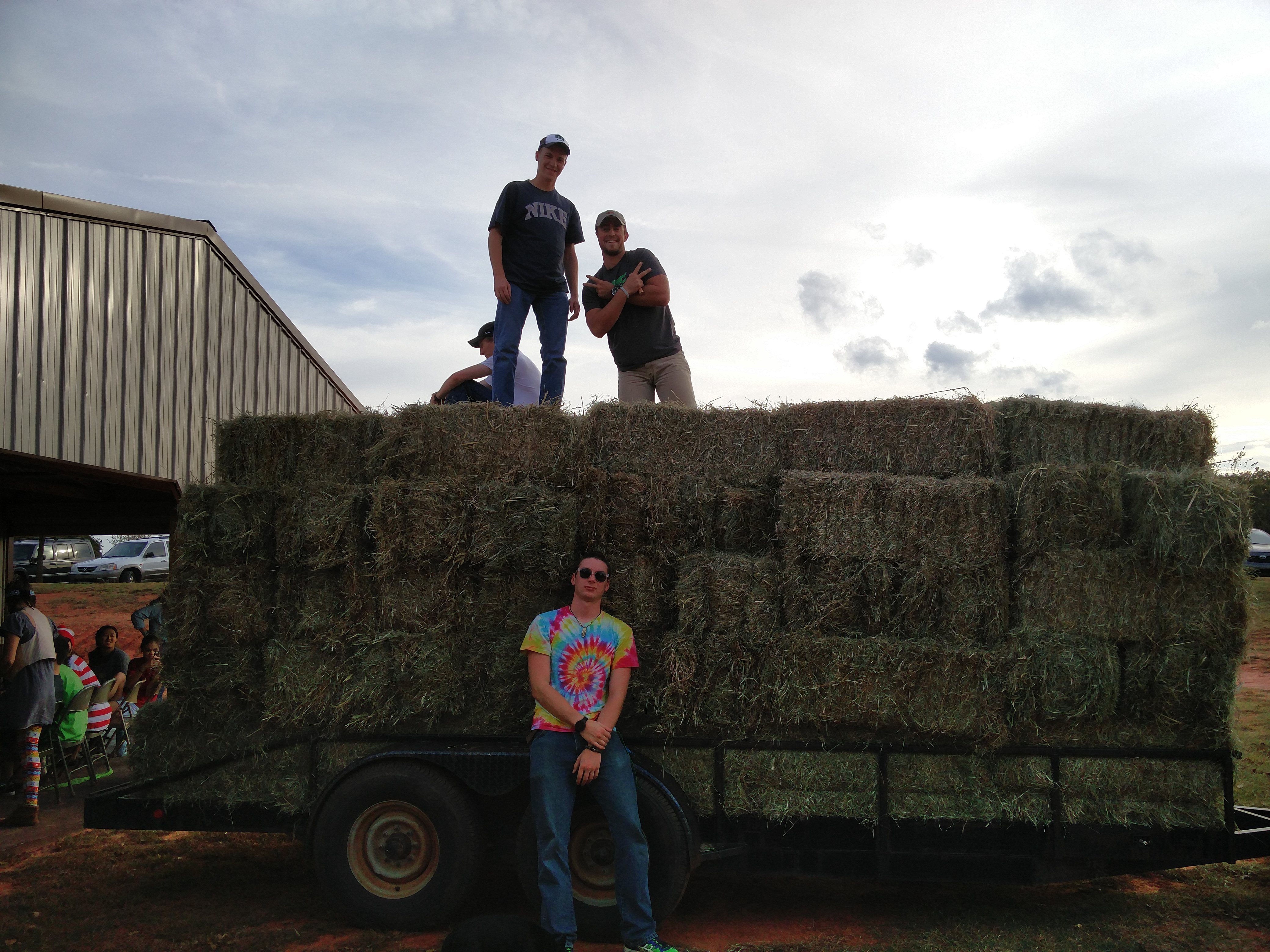 It turns out that hay will cut you if you don't wear long sleeve shirts.